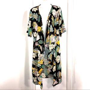 LuLaRoe Floral Kimono Swimsuit Coverup, Size S
